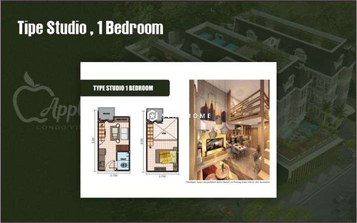 Apple 3 Condo Villa Studio 1 Bedroom